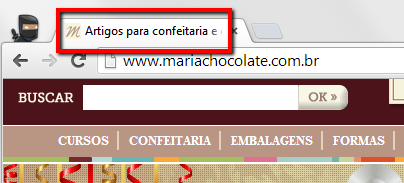 Header do site Maria Chocolate